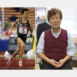 「東京五輪はマラソンで」と宣言した大迫(左)と鈴木良雄順大大学院教授