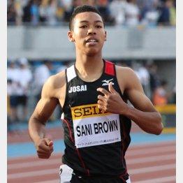 サニブラウンの身体能力の高さはNFLも注目(C)日刊ゲンダイ
