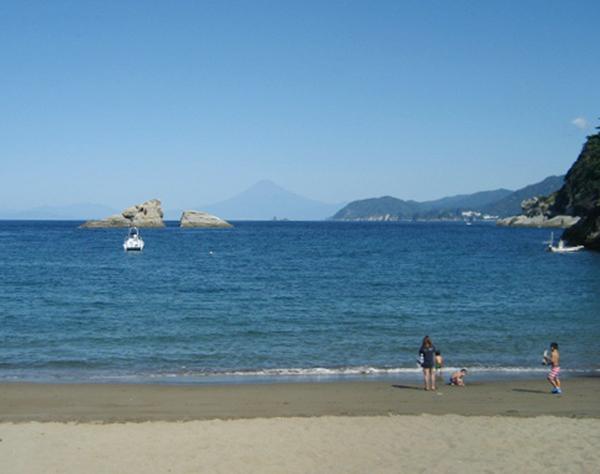 絶景!雲見浜から富士山を望む(C)日刊ゲンダイ