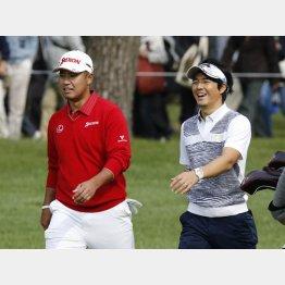 日本オープンゴルフ選手権での松山英樹と石川遼