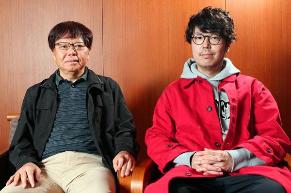 中森明夫(左)と川村元気プロデューサー/(C)日刊ゲンダイ