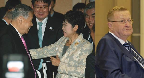 IOCコーツ副会長(右)がカギを握る/(C)日刊ゲンダイ