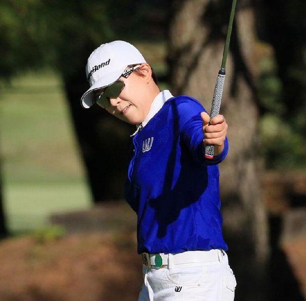 韓国女子プロゴルフ協会の推薦で参戦した申ジエ(C)日刊ゲンダイ