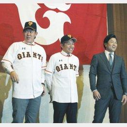 山口俊(左)は帽子が入らず…(C)日刊ゲンダイ