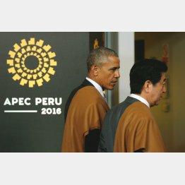 APECでのオバマ大統領と安倍首相(C)ロイター