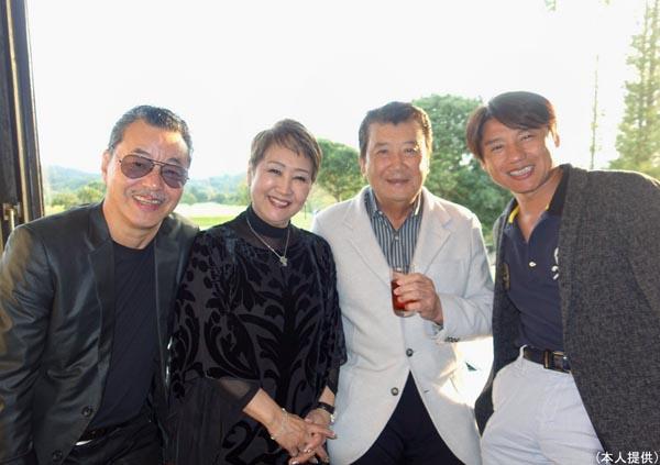 左から日野皓正、渡辺友子、里見浩太朗(提供写真)