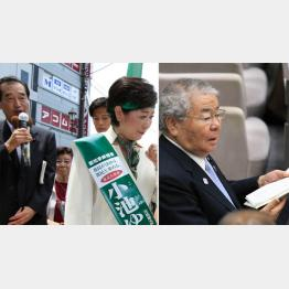 小池知事(左)と都議自民は全面対決へ(C)日刊ゲンダイ