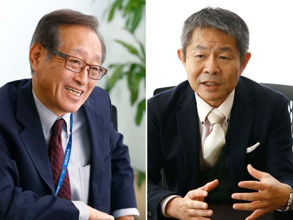 潮匡人氏(右)と二木氏(C)日刊ゲンダイ