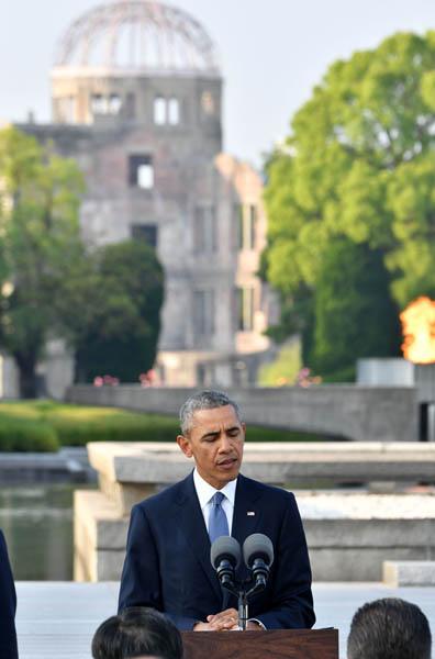 オバマ大統領は今年5月に広島を訪問(代表撮影)