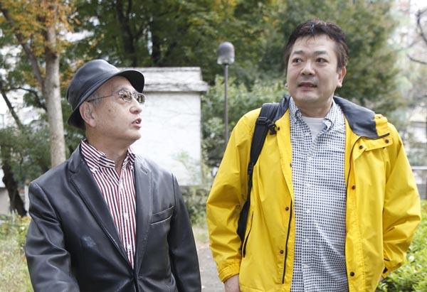 立川談笑(右)と吉川潮/(C)日刊ゲンダイ