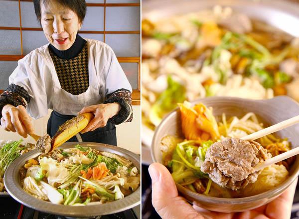 キノコと野菜の量は圧巻!イワシの香りが口いっぱいに広がる(C)日刊ゲンダイ
