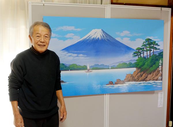 現役銭湯背景画絵師の丸山清人さん(C)日刊ゲンダイ