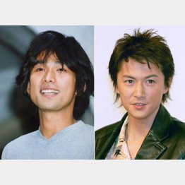 ひとつ屋根の下に出演した江口洋介(左)と福山雅治/(C)日刊ゲンダイ