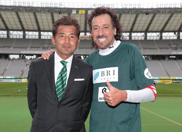 敬愛するラモスさんと2ショット(C)Norio ROKUKAWA/Office La Strada