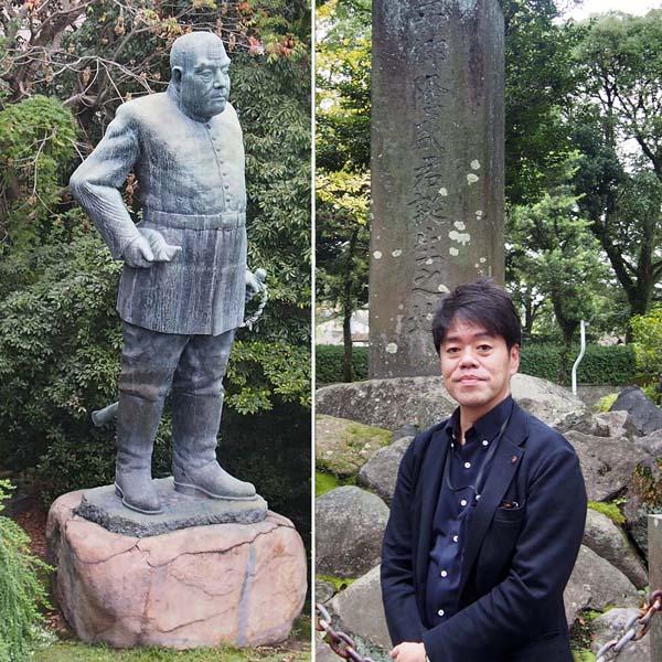 西郷隆盛のひ孫にあたる西郷隆夫氏(右)/(C)日刊ゲンダイ