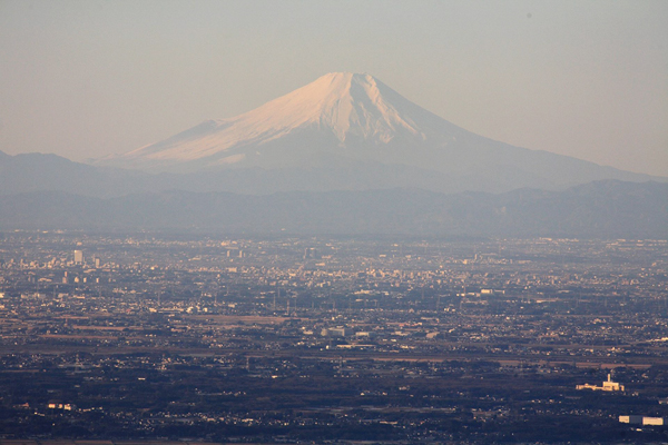 筑波山からの富士(撮影・滝原逸郎)
