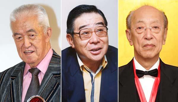 左から永六輔、大橋巨泉、蜷川幸雄(C)日刊ゲンダイ