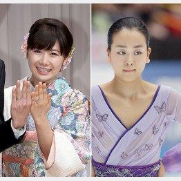 福原愛(左)と浅田真央で明暗はっきり(C)日刊ゲンダイ