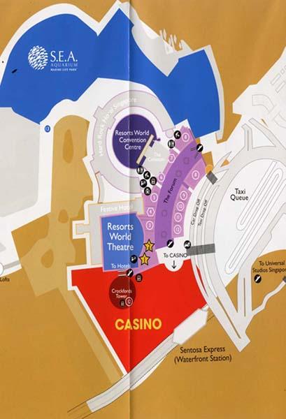 カジノは入り口にある(シンガポール「セントーサ」)/(鳥畑教授提供)