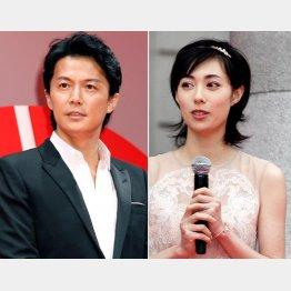 福山雅治(左)と吹石一恵/(C)日刊ゲンダイ