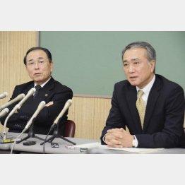 斉藤市長(左)と田中副市長/(C)共同通信社