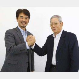 権藤博氏(右)と吉井理人氏(C)日刊ゲンダイ