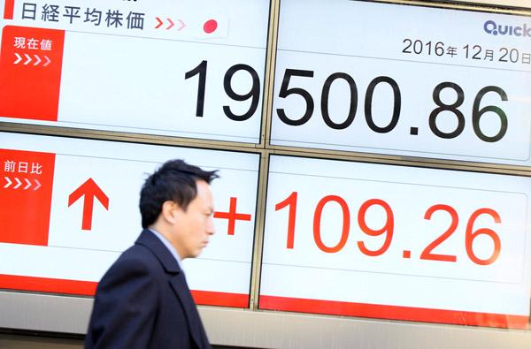 株価は上がれど賃金上がらず(C)日刊ゲンダイ