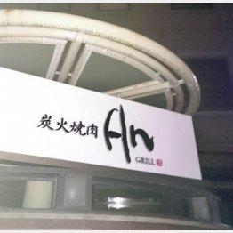 慰労会が行われた高級焼き肉店
