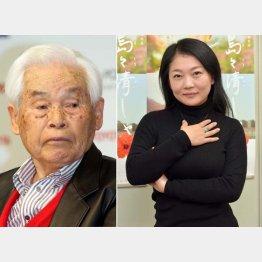 故新藤兼人監督(左)と新藤風監督(C)日刊ゲンダイ