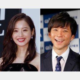 同棲が発覚した佐々木希(左)と渡部健(C)日刊ゲンダイ