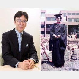 英国留学時代の西山さん(右)/(C)日刊ゲンダイ