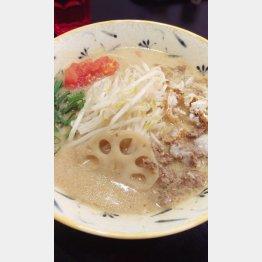 「牛骨らぁ麺マタドール」の『濃厚味噌らぁ麺』/(C)日刊ゲンダイ