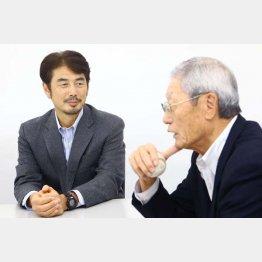 近鉄時代を懐かしむ吉井氏(左)と権藤氏(C)日刊ゲンダイ
