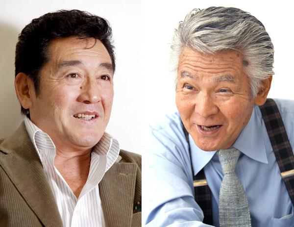 松方弘樹さん(左)と菅原文太さん(C)日刊ゲンダイ