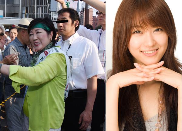 ボディーガードは西島秀俊似のイケメン。右は共演した西野翔/(C)日刊ゲンダイ