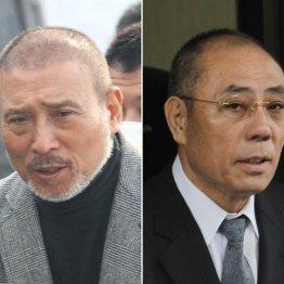 6代目山口組篠田建市組長(左)と神戸山口組井上邦雄組長