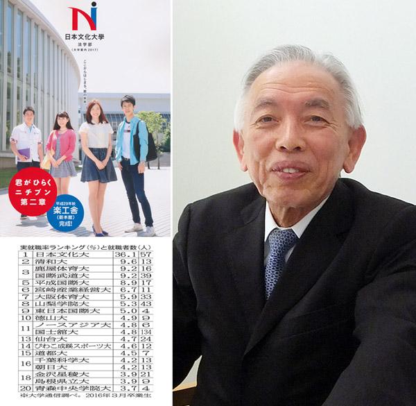 左上は大学パンフレット(C)日刊ゲンダイ