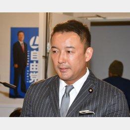 安倍首相に質問した山本太郎氏(C)日刊ゲンダイ