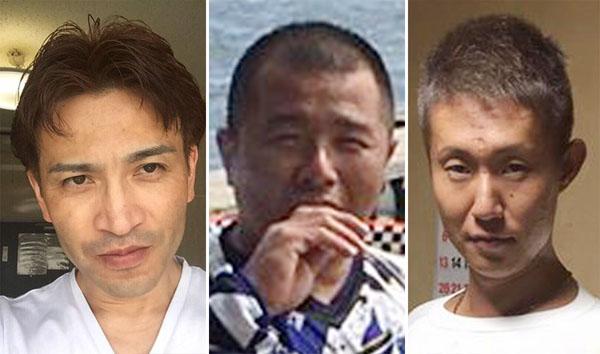 (左から)大里芳広、鈴木孝之、石塚悦久の3被告/(フェイスブックから)