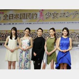 左から、高橋ひかる、剛力彩芽、武井咲、河北麻友子、吉本実憂(C)日刊ゲンダイ