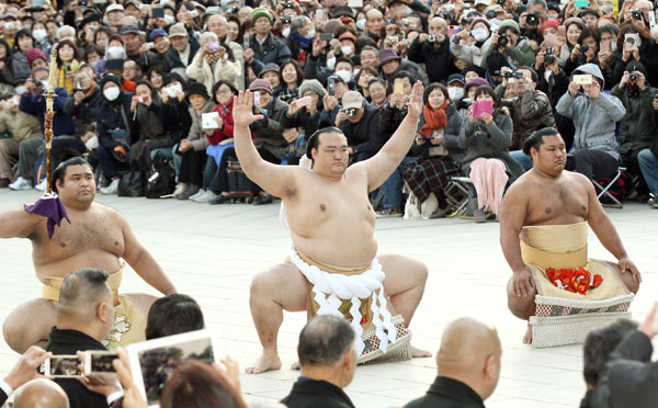 19年ぶりの和製横綱になった稀勢の里(C)日刊ゲンダイ