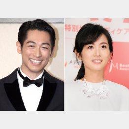 ディーン・フジオカ(左)と高島彩(C)日刊ゲンダイ