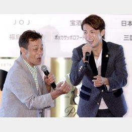 清水アキラ(左)と清水良太郎