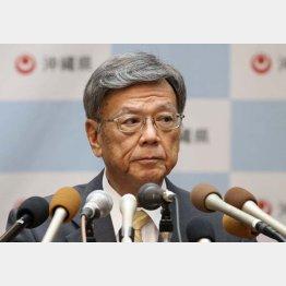 """翁長県知事は""""代理対決""""で敗北(C)日刊ゲンダイ"""