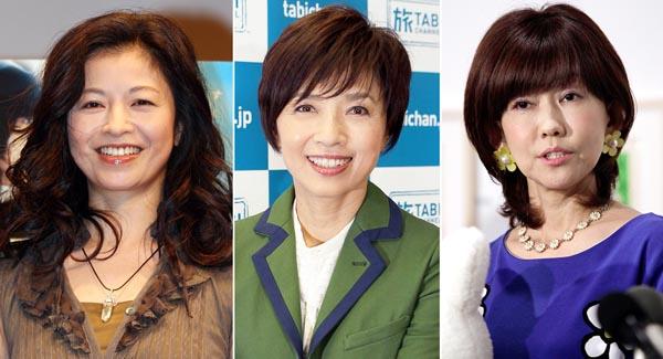 左から石田えり、榊原郁恵、松本伊代(C)日刊ゲンダイ