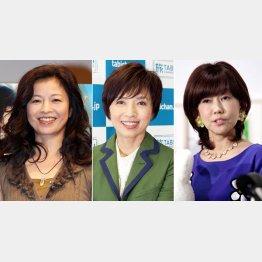 左から石田えり、榊原郁恵、松本伊代