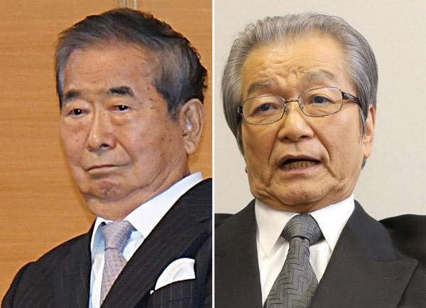 浜渦元副知事(右)は前回2005年も証人として呼ばれた(C)日刊ゲンダイ