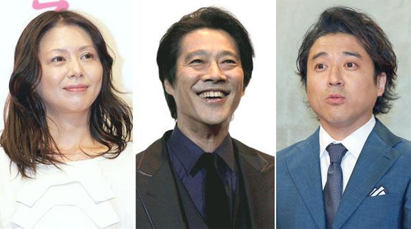 左から小泉今日子、堤真一、ムロツヨシ(C)日刊ゲンダイ