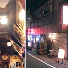 通好みの武蔵小山 店の壁や天井に日本酒のラベルがビッシリ…