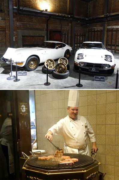幻のトヨタ2000GTはオークションで1億円以上の値が(ジーライオンミュージアム、下はジーライオンステーキハウス)/(C)日刊ゲンダイ